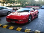 Left   Exotic Spotting in Melbourne: Ferrari F355 Spider - front left (Crown Casino, Vic, 22 May 08)