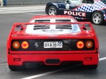 Police   Ferrari's 60th Anniversary Parade Melbourne 3 March 2007: Ferrari F40 - rear and police (Crown Casino, Melbourne, Australia, 3 March 2007)