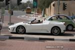 Left   Exotics in Dubai: Ferrari F430 Spider - A profile left (white)