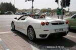 Left   Exotics in Dubai: Ferrari F430 Spider - A rear left 1 (white)