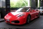Left   Exotic Spotting in Melbourne: Ferrari F430 Spider - front left (Crown, Victoria, 12 Nov 09)a