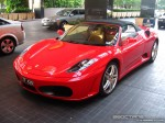 F430   Exotic Spotting in Melbourne: Ferrari F430 Spider - front left (Crown Casino, Vic, 13 March 08)