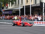 For   Ferrari's 60th Anniversary Parade Melbourne 3 March 2007: Ferrari Formula 1 car driven by Marc Gen� - front right (Lygon St, Carlton, VIC, Australia, 3 March 07)