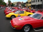 Australia   Ferrari's 60th Anniversary Parade Melbourne 3 March 2007: Ferrari group -  Daytona, Dino etc (Argyle Place, Carlton, VIC, Australia, 3 March 2007)