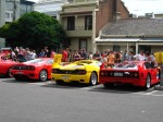 Australia   Ferrari's 60th Anniversary Parade Melbourne 3 March 2007: Ferrari group rear - 599GTB F50 and F40 2 (Argyle Place, Carlton, VIC, Australia, 3 March 2007)