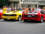 Australia   Ferrari's 60th Anniversary Parade Melbourne 3 March 2007: Ferrari pair rear right - F50   F40 (Argyle Place, Carlton, VIC, Australia, 3 March 2007)
