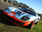 FORD   Dutton Rally 2007 - Sandown, Victoria: Ford GT40 [UK GTD40 replica] - front angle up (Dutton Rally 07, Sandown, Vic, 2 Sept 07)
