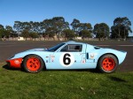 Ford   Dutton Rally 2007 - Sandown, Victoria: Ford GT40 [UK GTD40 replica] - profile left 1 (Dutton Rally 07, Sandown, Vic, 2 Sept 07)