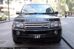 Heritage plates: Heritage plate 187 - front (Range Rover, Southbank, Vic, 25 Mar 09)