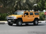 Exotics in Dubai: Hummer H2 - B front right 2 (yellow)