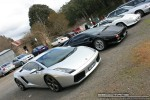 For   Lamborghinis in Daylesford (26 June 09): Lamborghini Gallardo (silver) - front right group (Daylesford, Vic, 26 Jun 09)