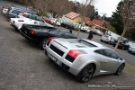 For   Lamborghinis in Daylesford (26 June 09): Lamborghini Gallardo (silver) - rear right group (Daylesford, Vic, 26 Jun 09)