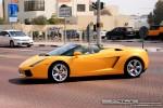 Exotics in Dubai: Lamborghini Gallardo Spider - B front left