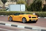 98octane Photos Exotics in Dubai: Lamborghini Gallardo Spider - B rear left