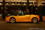 Lambo   Exotic Spotting in Melbourne: Lamborghini Gallardo Spider - profile left 2 (Crown Casino, Victoria, 27 Feb 09)