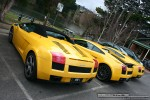 For   Lamborghinis in Daylesford (26 June 09): Lamborghini Gallardo Spider - rear left group (Daylesford, Vic, 26 Jun 09)