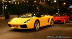 Exotic Spotting in Melbourne: Lamborghini Gallardo Spider and Ferrari F430 - front left 2 (Crown Casino, Victoria, 27 Feb 09)
