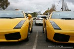 FORD   Lamborghinis in Daylesford (26 June 09): Lamborghini Gallardos (yellow) - front close (Daylesford, Vic, 26 Jun 09)
