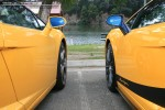 For   Lamborghinis in Daylesford (26 June 09): Lamborghini Gallardos (yellow) - middle (Daylesford, Vic, 26 Jun 09)
