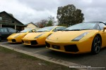 FORD   Lamborghinis in Daylesford (26 June 09): Lamborghini Gallardos - front left 1 (Daylesford, Vic, 26 Jun 09)
