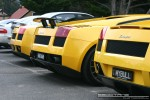 For   Lamborghinis in Daylesford (26 June 09): Lamborghini Gallardos - rear right close (Daylesford, Vic, 26 Jun 09)