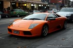 Left   Exotic Spotting in Melbourne: Lamborghini Muricielago - front left (South Yarra, Vic, 19 July 08)