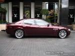 Maserati   Exotic Spotting in Melbourne: Maserati Quattroporte - profile right (Crown Casino, Vic, 29 Feb 08)