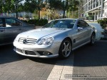 Mercedes   Exotic Spotting in Melbourne: Mercedes Benz SL550 - front left (Crown Casino, Vic, 23 May 08)