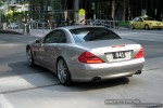 2008   Exotic Spotting in Melbourne: Mercedes Benz SL Brabus - rear left (Melbourne, Vic, 21 Oct 2008)