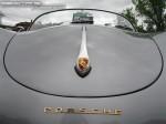 Silver   Porsche 356 Parade 2007: Porsche 356 Speedster - silver front badge 1 (356 Parade, Toorak, Vic, 25 Nov 07)