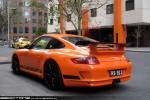 Porsche   Exotic Spotting in Melbourne: Porsche 911 GT3RS [997] - rear left 1 (Southbank, Victoria, 21 July 09)