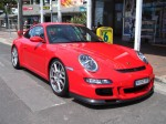 Right   Exotics on Victoria's Surf Coast: Porsche 911 GT3 [997] - front right 2 (Lorne, Vic, 10 Nov 07)~0
