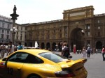 Exotic Spotting in Europe: Porsche 911 Gemballa GT500 Biturbo Type 996 - rear left piazza- Dustball 4000 Rally (Piazza Republica, Florence, Italy, 17-Jun-06)