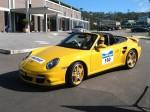 Left   Porsche Great Ocean Road Escape (8 - 11 Nov 2007): Porsche 911 Turbo Cabriolet [997] [ACAR-42] - front left (Lorne, Vic, 8 Nov 07)