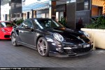 CAB   Exotic Spotting in Melbourne: Porsche 911 Turbo Cabriolet [997] - front right (Crown, Vic, 13 Aug 09)