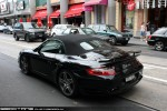 Cabriolet   Exotic Spotting in Melbourne: Porsche 911 Turbo Cabriolet [997] - rear left (South Yarra, Vic, 14 Nov 09)