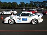 993   Dutton Rally 2007 - Sandown, Victoria: Porsche 993 RS - white profile left (Dutton Rally 07, Sandown, Vic, 2 Sept 07)