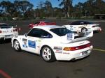 993   Dutton Rally 2007 - Sandown, Victoria: Porsche 993 RS - white rear left (Dutton Rally 07, Sandown, Vic, 2 Sept 07)