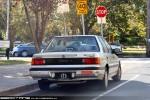Plate   Heritage plates: Vic plate 112 - rear (Honda Civic, South Yarra, Vic, 17 Apr 2010)