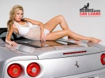 Girl   Public: Blonde laying on engine of Ferrari 360 Spider