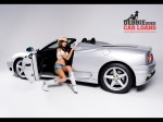 Public: Hot chick in cowboy hat and boots with Ferrari 360 Spider