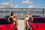 Girls   futurism: 2 girls and 2 ferraris
