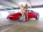 Girl   futurism: girls with a ferrari