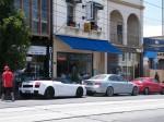 Gallardo   Spottings in Melbourne: White Gallardo Spyder + BMW M5 on Toorak Road