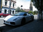 Aston   Spottings in Melbourne: White Gallardo Spyder on Toorak Road