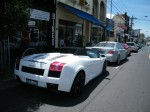 Bmw   Spottings in Melbourne: White Gallardo Spyder + BMW M5 on Toorak Road