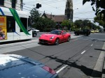 Car   Spottings in Melbourne: Red Ferrari California on Toorak Road