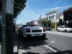 Gallardo   Spottings in Melbourne: White Gallardo Spyder on Toorak Road