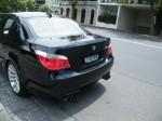 Photos street Australia Spottings in Melbourne: Black BMW M5 on Toorak Road (rear)