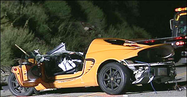 Image: Lotus Elise crash - racing a Porsche - Salt Lake USA